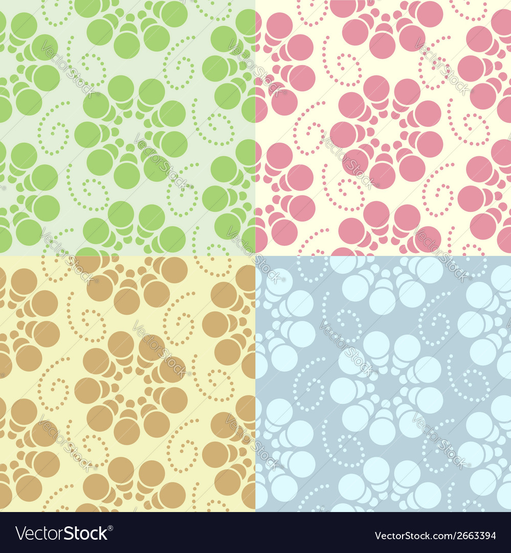 Abstract flowers seamless pattern vector | Price: 1 Credit (USD $1)