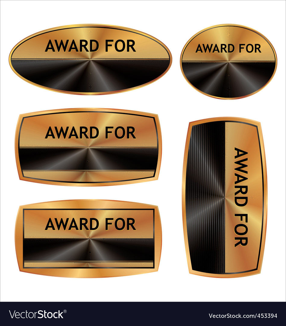 Award blank set vector | Price: 1 Credit (USD $1)