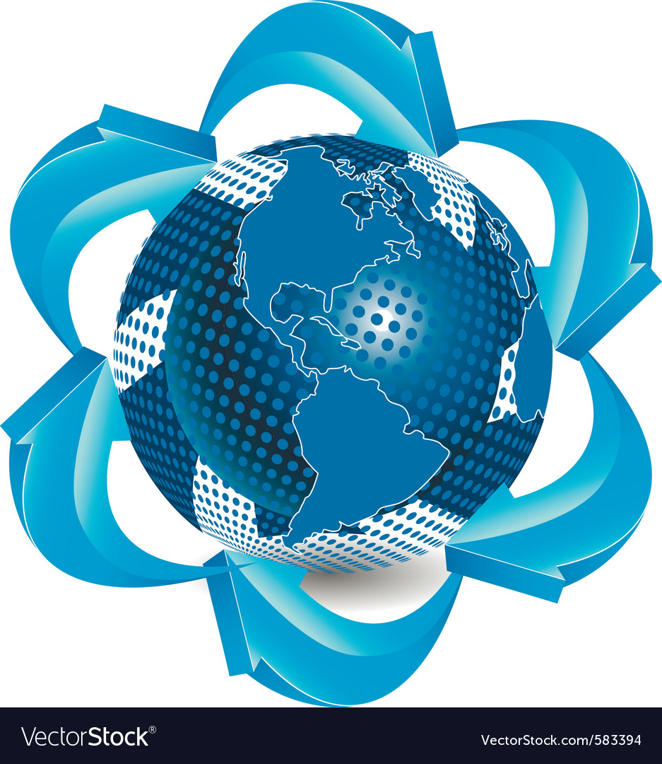 Blue globe vector | Price: 1 Credit (USD $1)