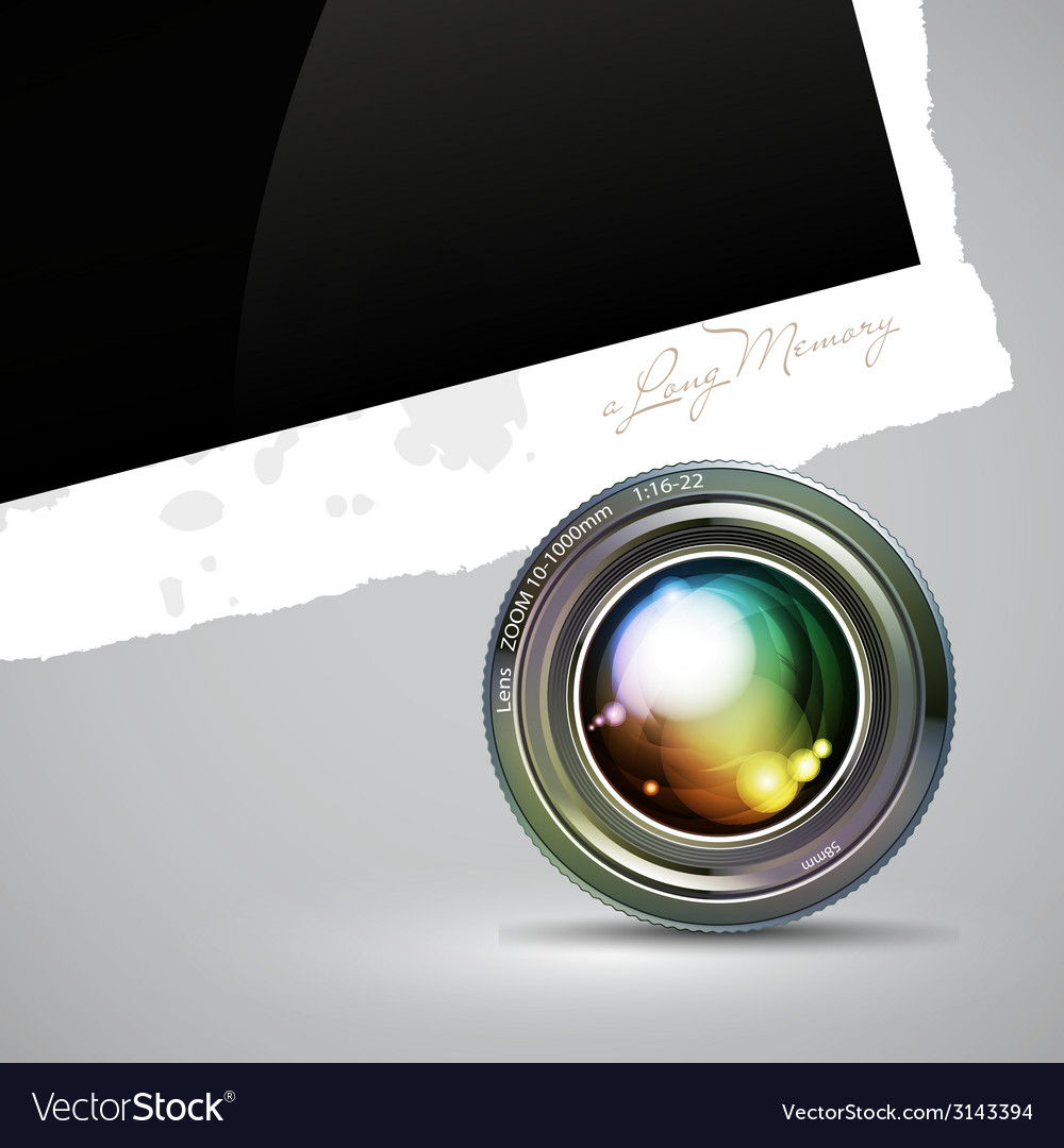 Camera lens with photography background vector | Price: 1 Credit (USD $1)