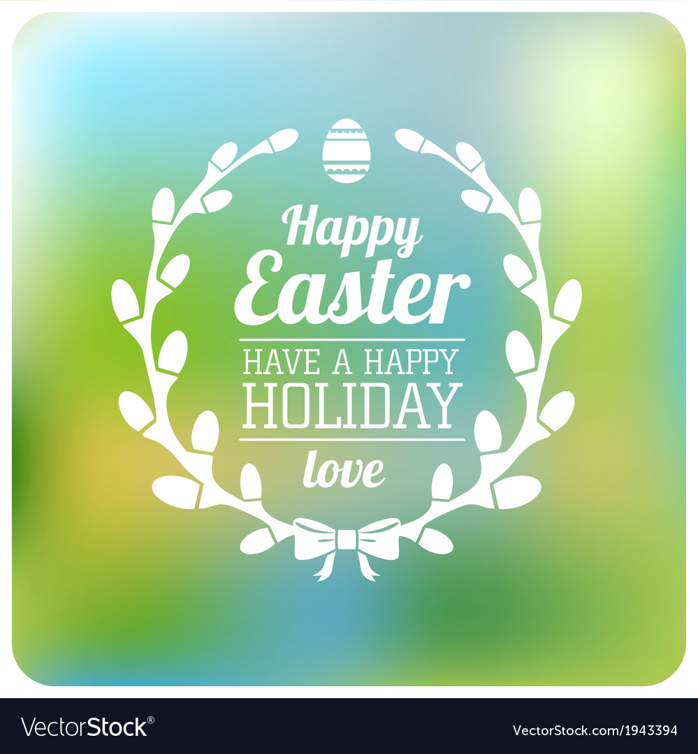 Easter typographical background flat design vector | Price: 1 Credit (USD $1)