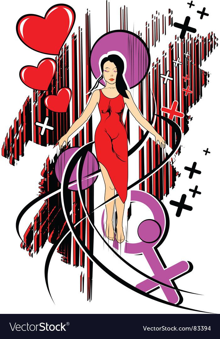 Love girl vector | Price: 1 Credit (USD $1)