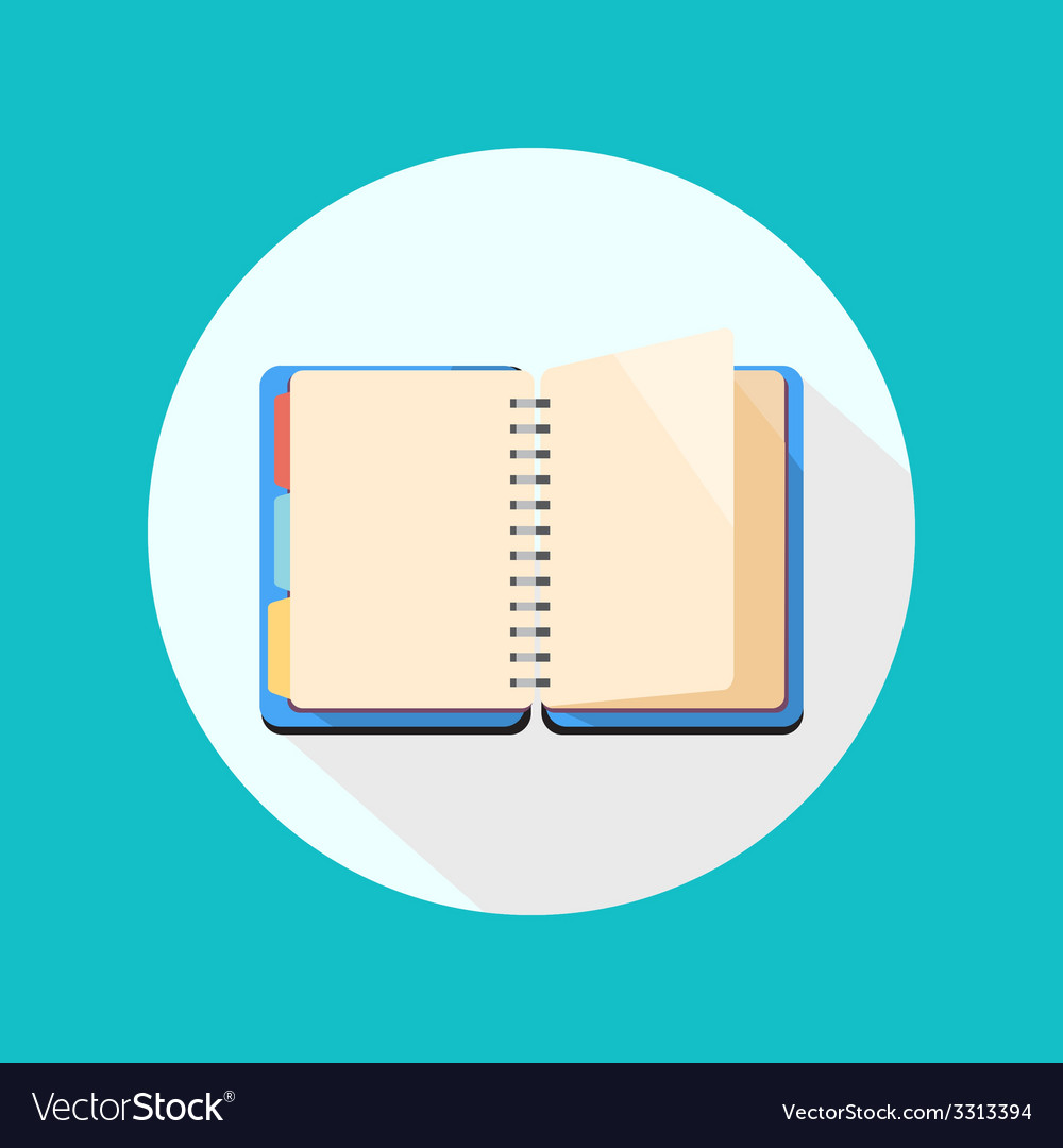 Open notebook icon vector | Price: 1 Credit (USD $1)