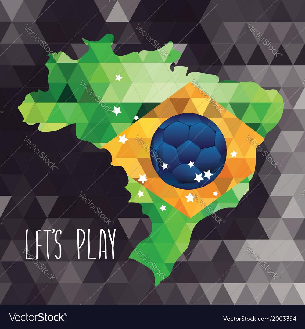 Poster soccer world game design concept brazil vector   Price: 1 Credit (USD $1)