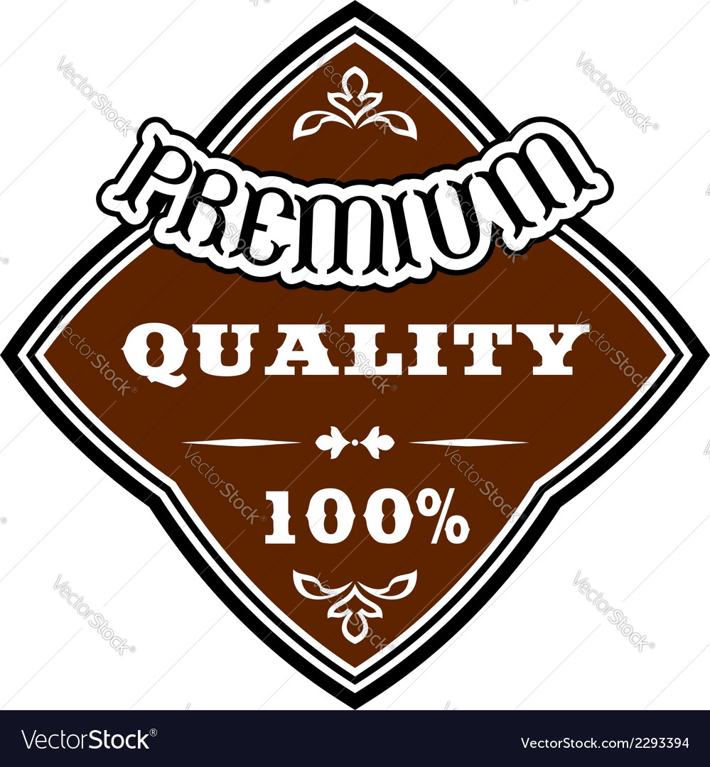Premium quality retro label vector | Price: 1 Credit (USD $1)