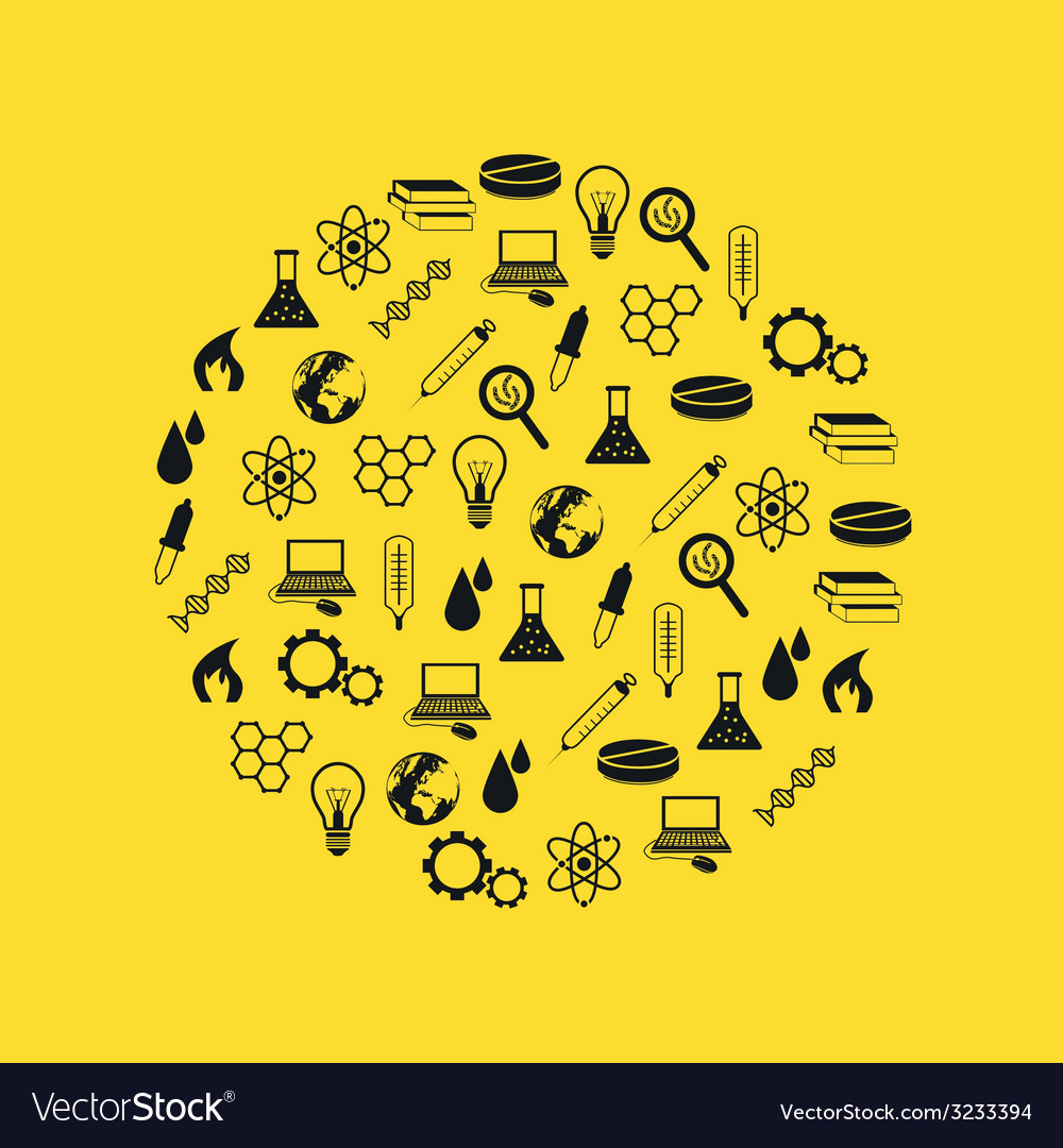 Science icons in circle vector | Price: 1 Credit (USD $1)