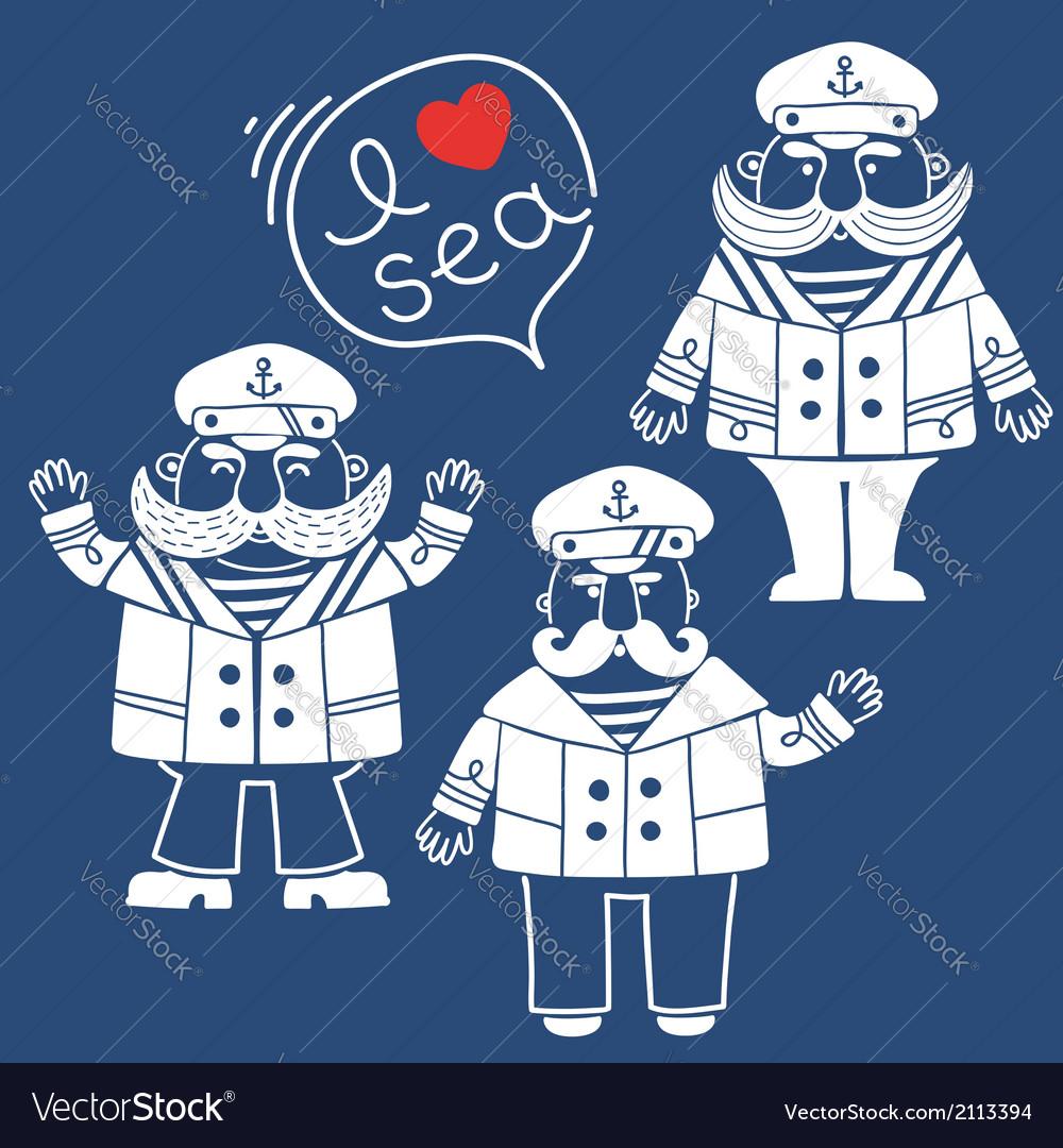 Sea captain vector | Price: 1 Credit (USD $1)