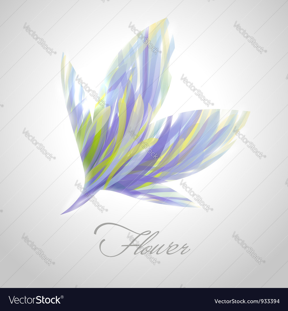 Shiny striped blue flower vector | Price: 1 Credit (USD $1)