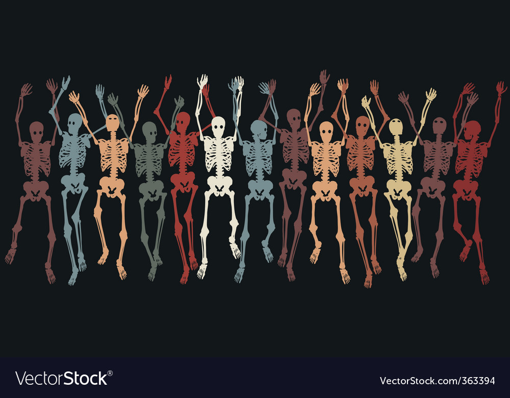 Skeletons together vector | Price: 1 Credit (USD $1)