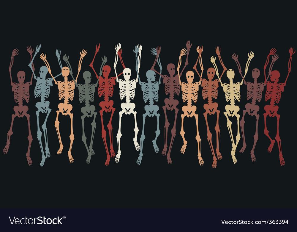 Skeletons together vector | Price: 1 Credit (USD $1)