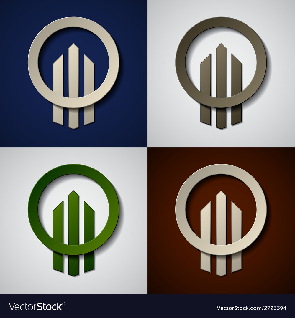 Skyscraper real estate paper icons vector | Price: 1 Credit (USD $1)