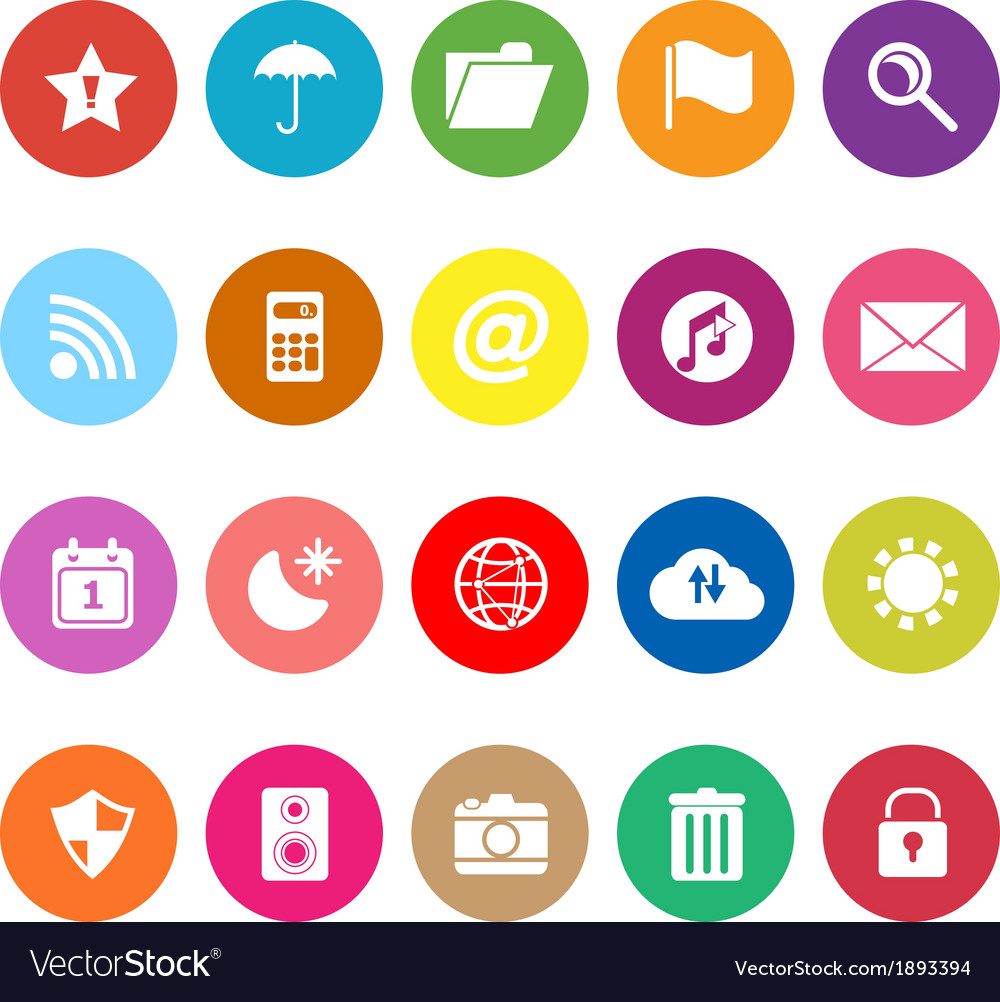 Tool bar flat icons on white background vector | Price: 1 Credit (USD $1)