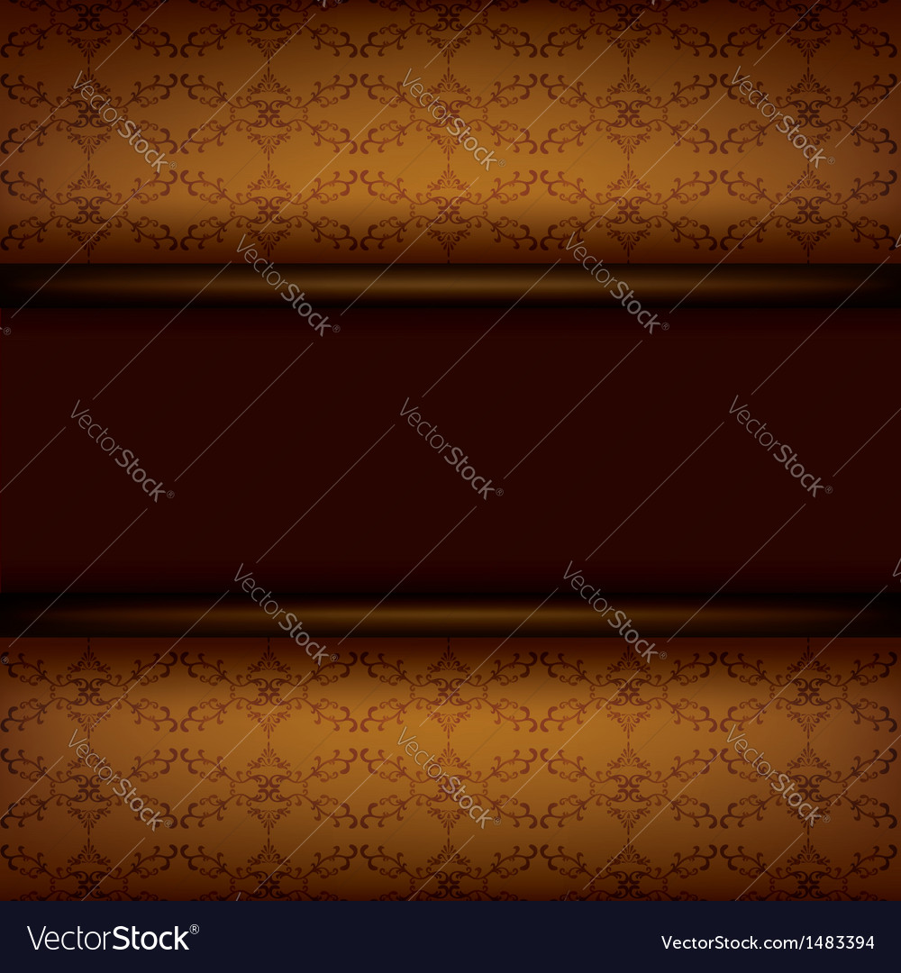 Vintage ornamental brown background with board vector | Price: 1 Credit (USD $1)