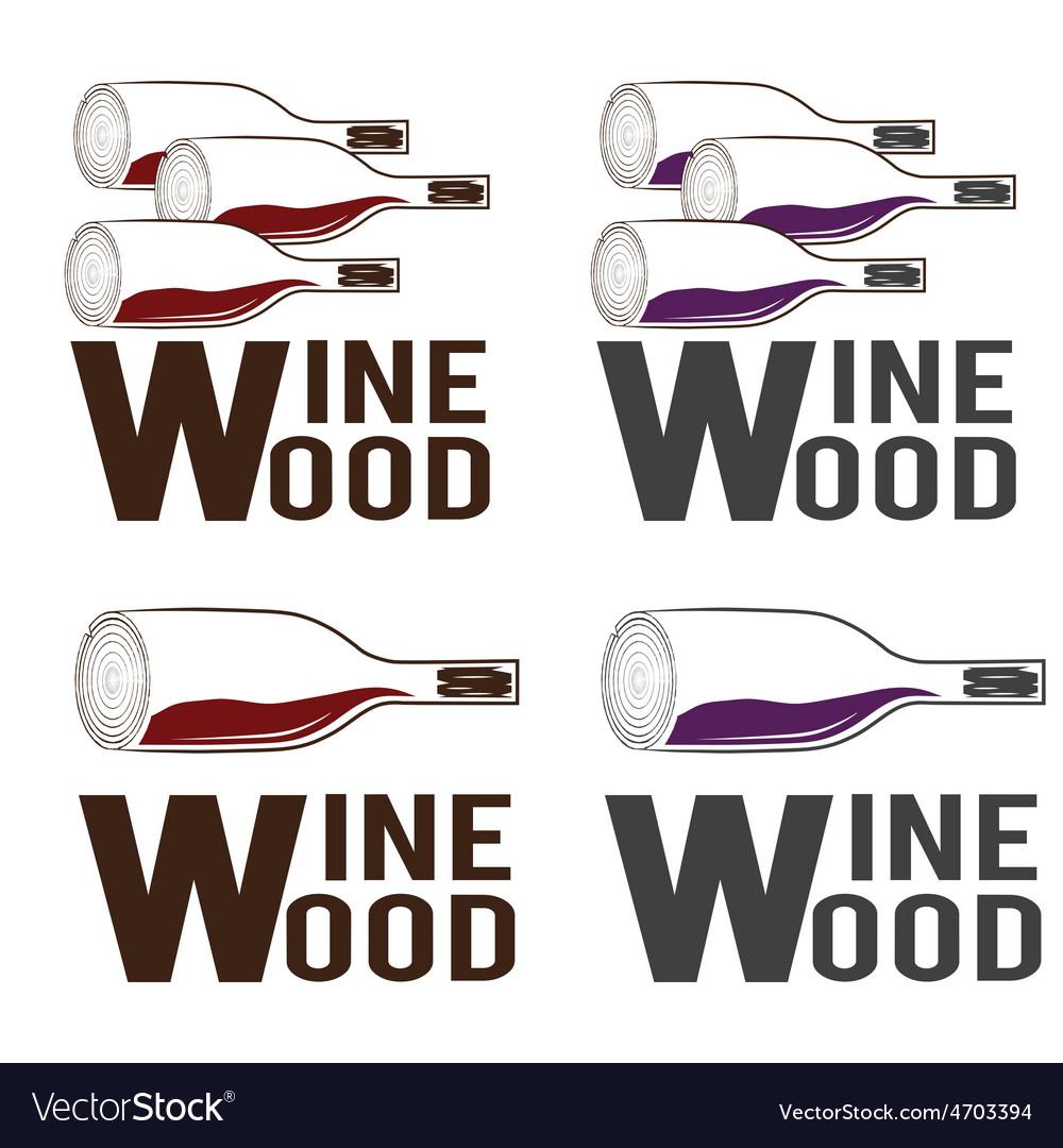 Wine wood concept design template vector | Price: 1 Credit (USD $1)