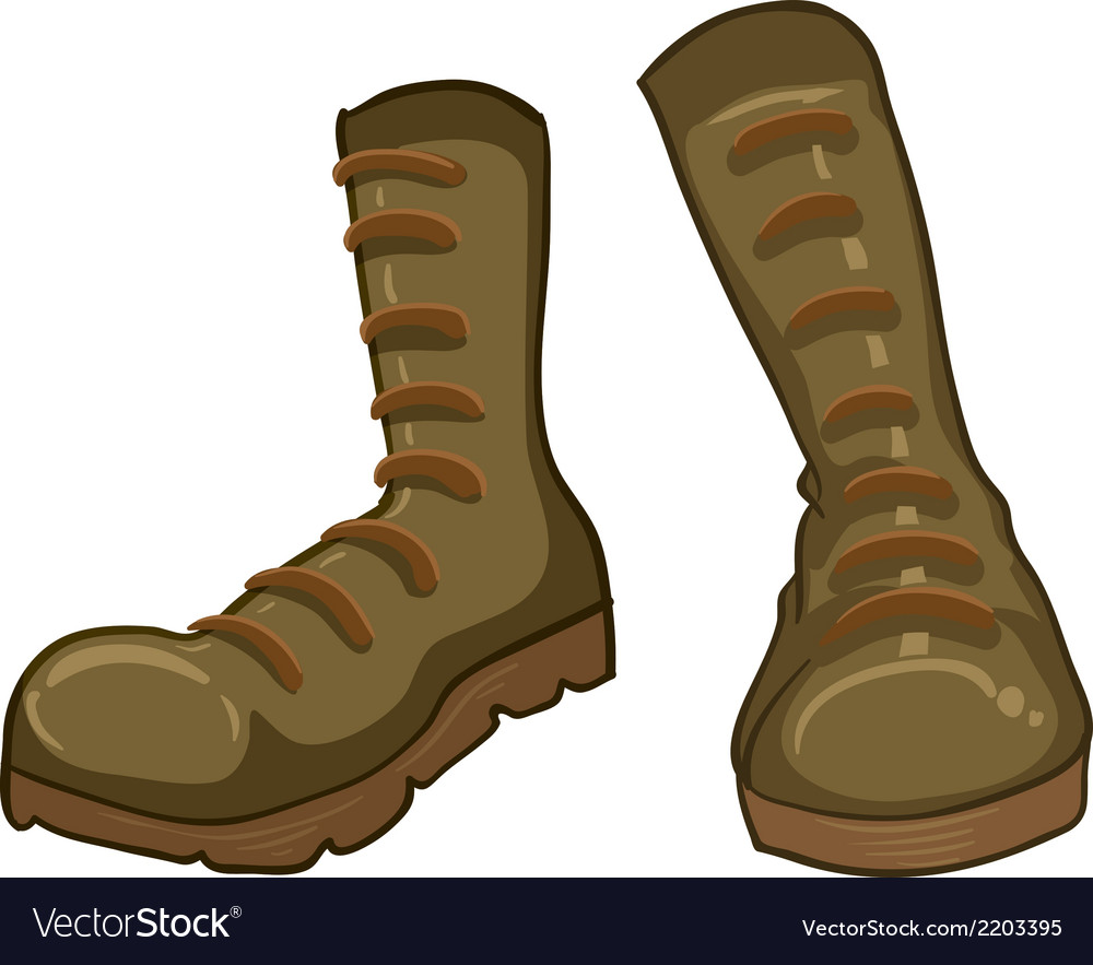 A pair of boots vector | Price: 1 Credit (USD $1)