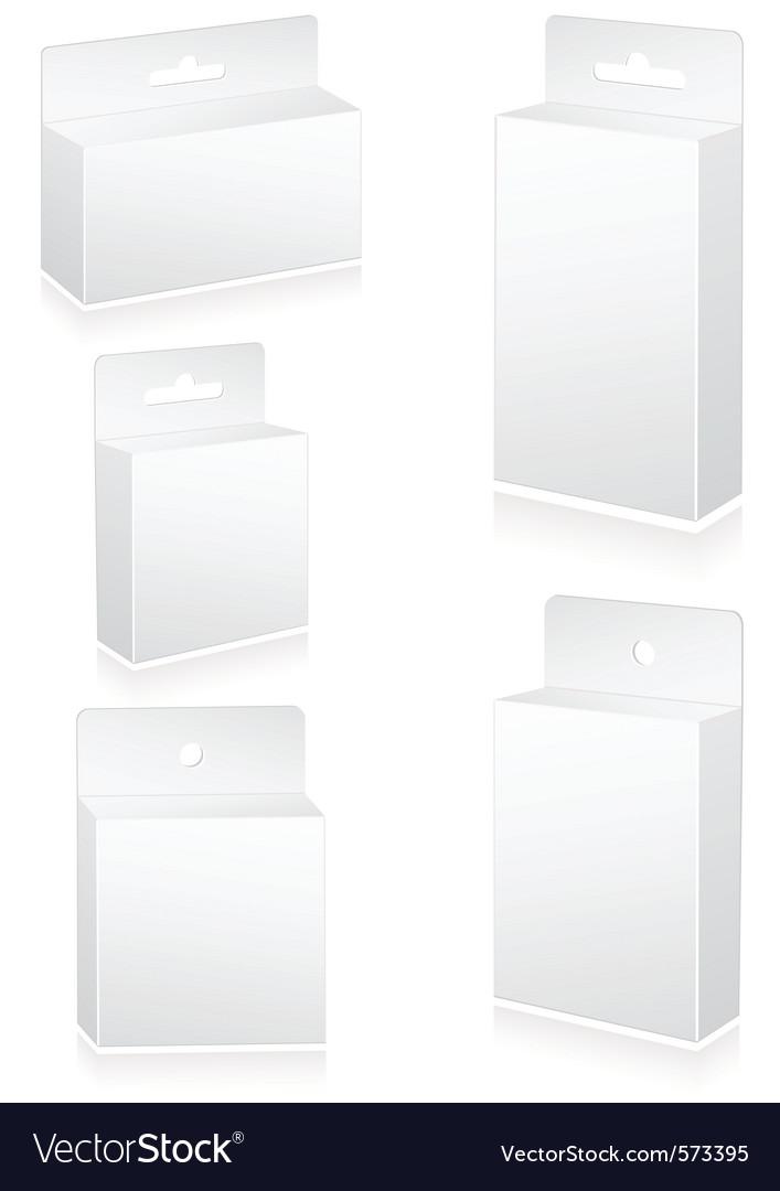 Blank retail cartons vector | Price: 1 Credit (USD $1)