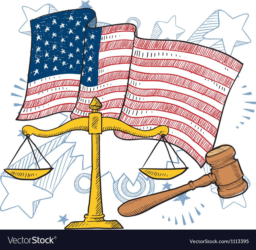 Doodle americana justice vector | Price: 1 Credit (USD $1)