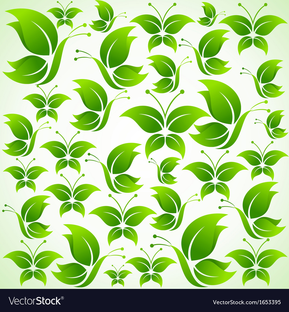 Green butterfly background vector | Price: 1 Credit (USD $1)
