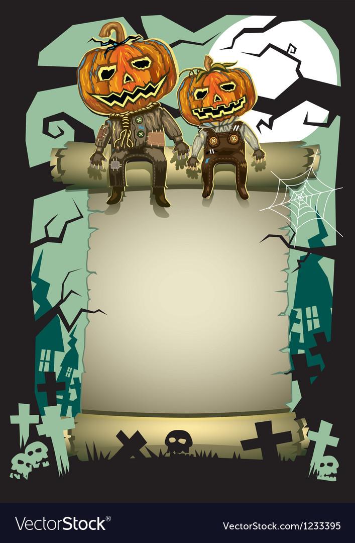 Halloween pumpkin background vector | Price: 3 Credit (USD $3)