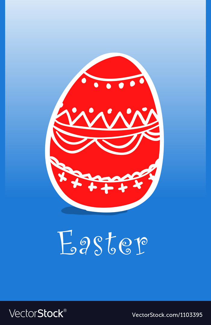 Happy easter card vector   Price: 1 Credit (USD $1)