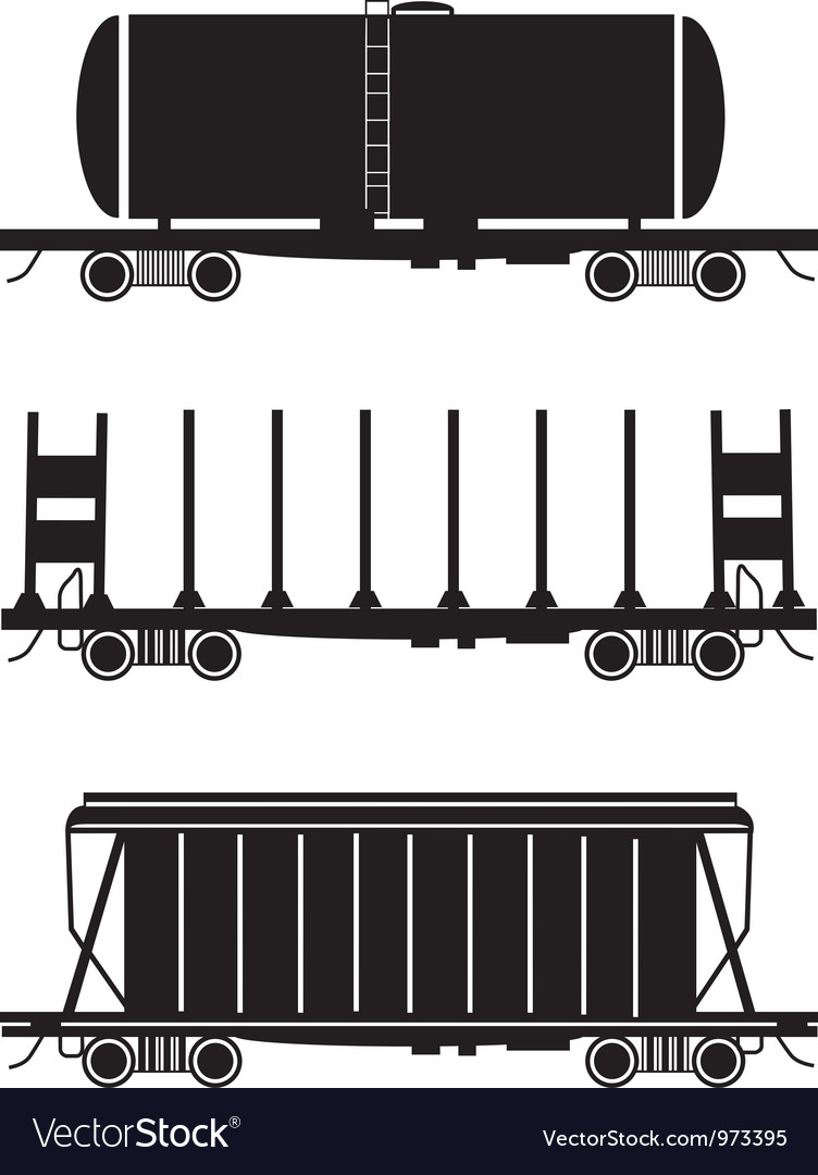 Hopper car open wagon tank car vector | Price: 1 Credit (USD $1)
