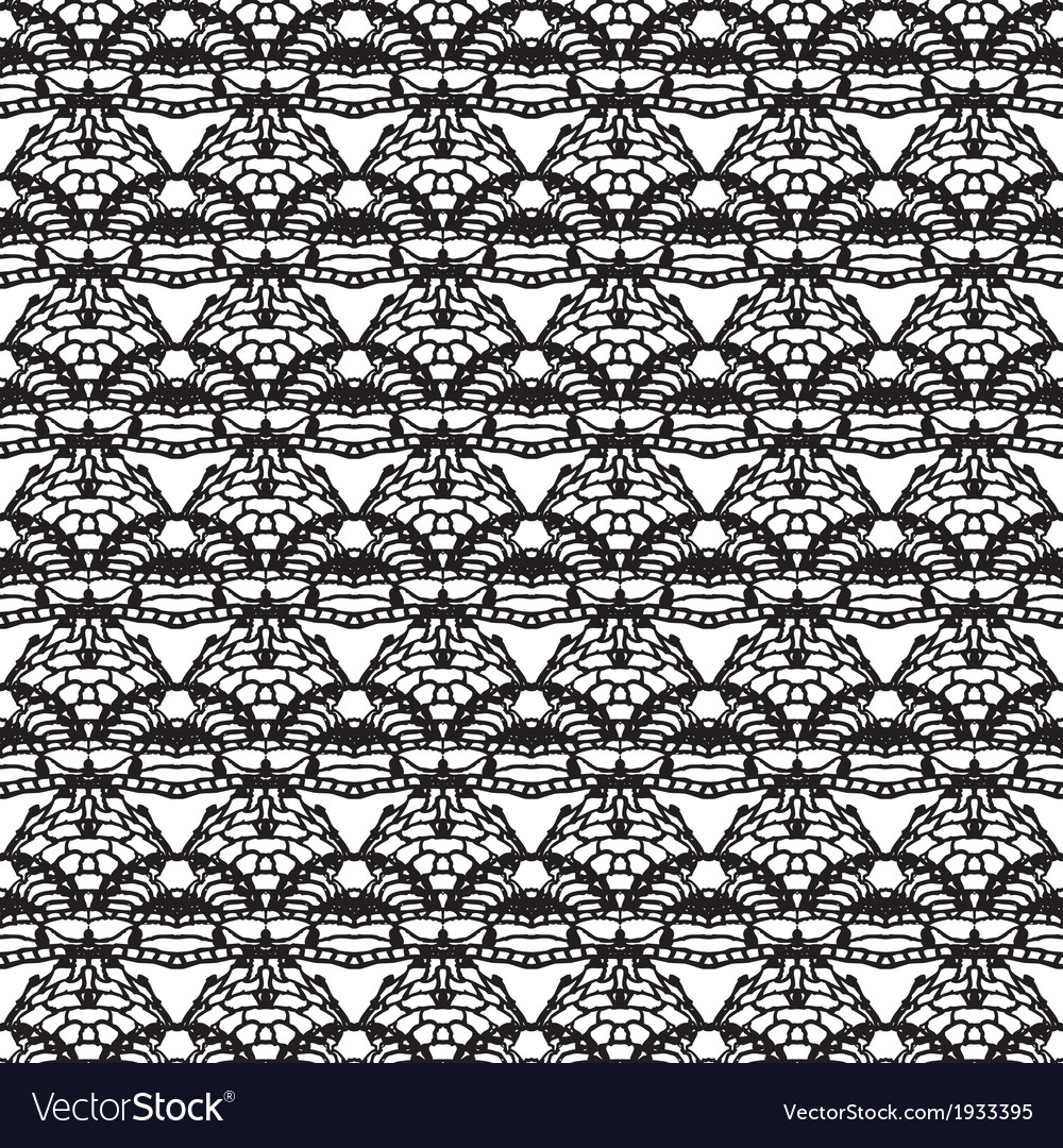 Lace black seamless mesh pattern vector | Price: 1 Credit (USD $1)