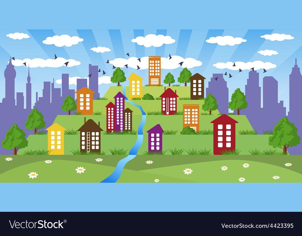 Modern metropolis vector | Price: 1 Credit (USD $1)