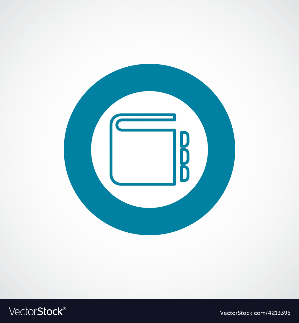 Notepad icon bold blue circle border vector | Price: 1 Credit (USD $1)