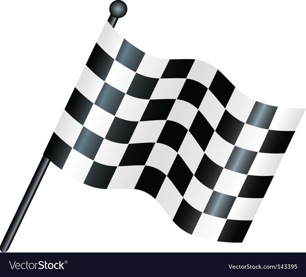 Race flag vector | Price: 1 Credit (USD $1)