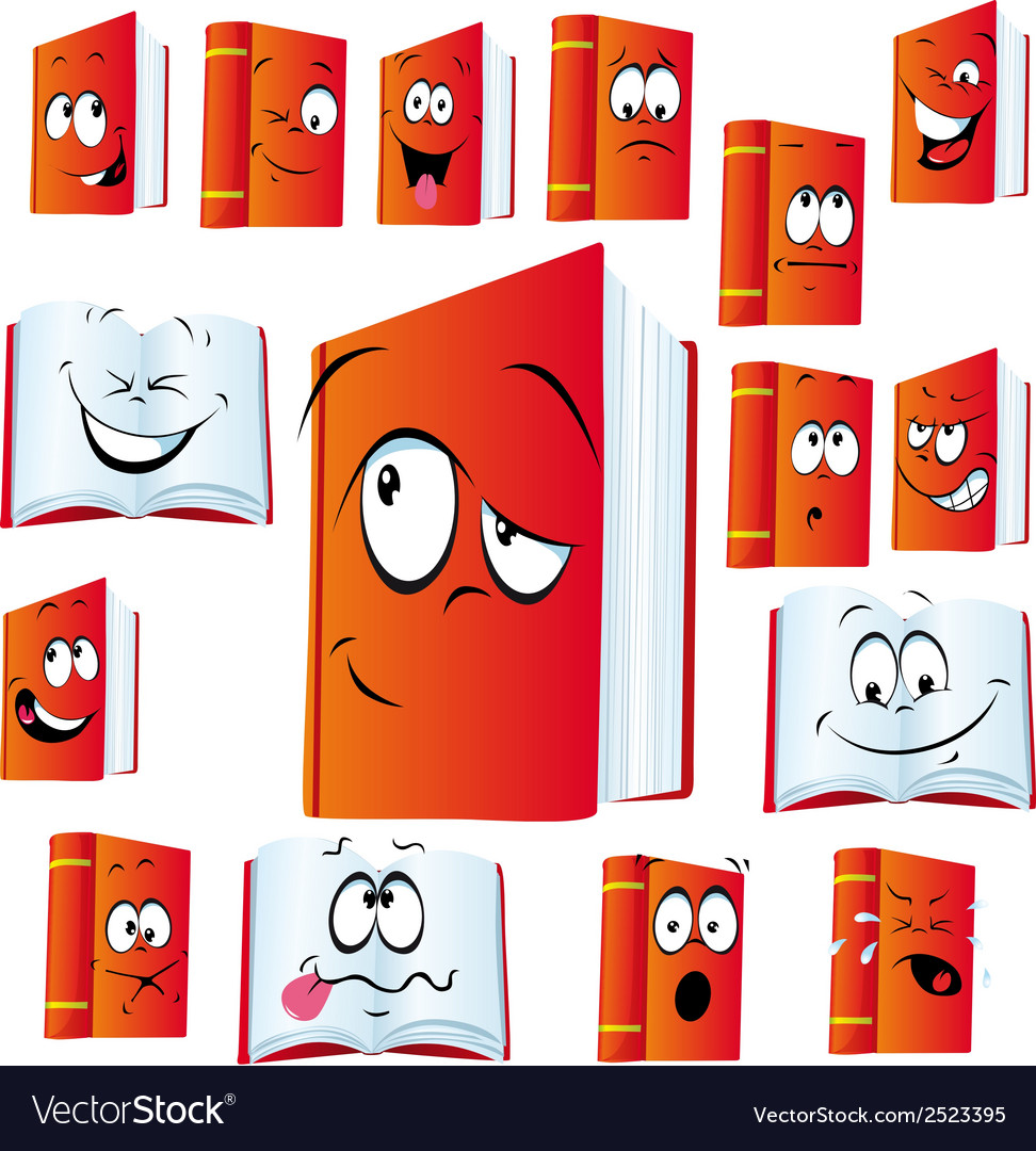 Red book cartoon vector | Price: 1 Credit (USD $1)