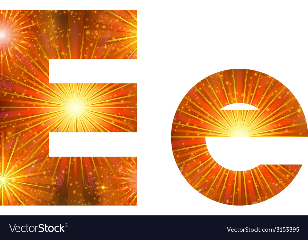Set of letters firework e vector | Price: 1 Credit (USD $1)