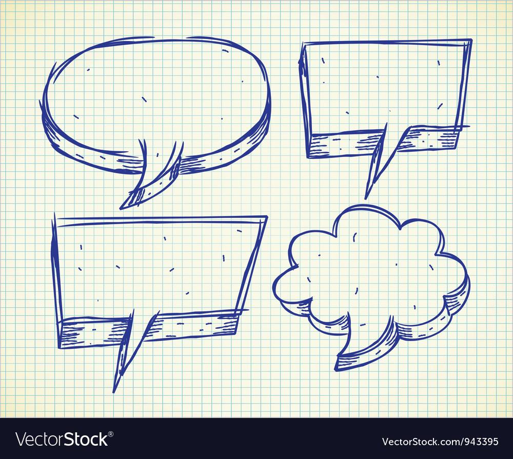 Set of speak bubble vector | Price: 1 Credit (USD $1)