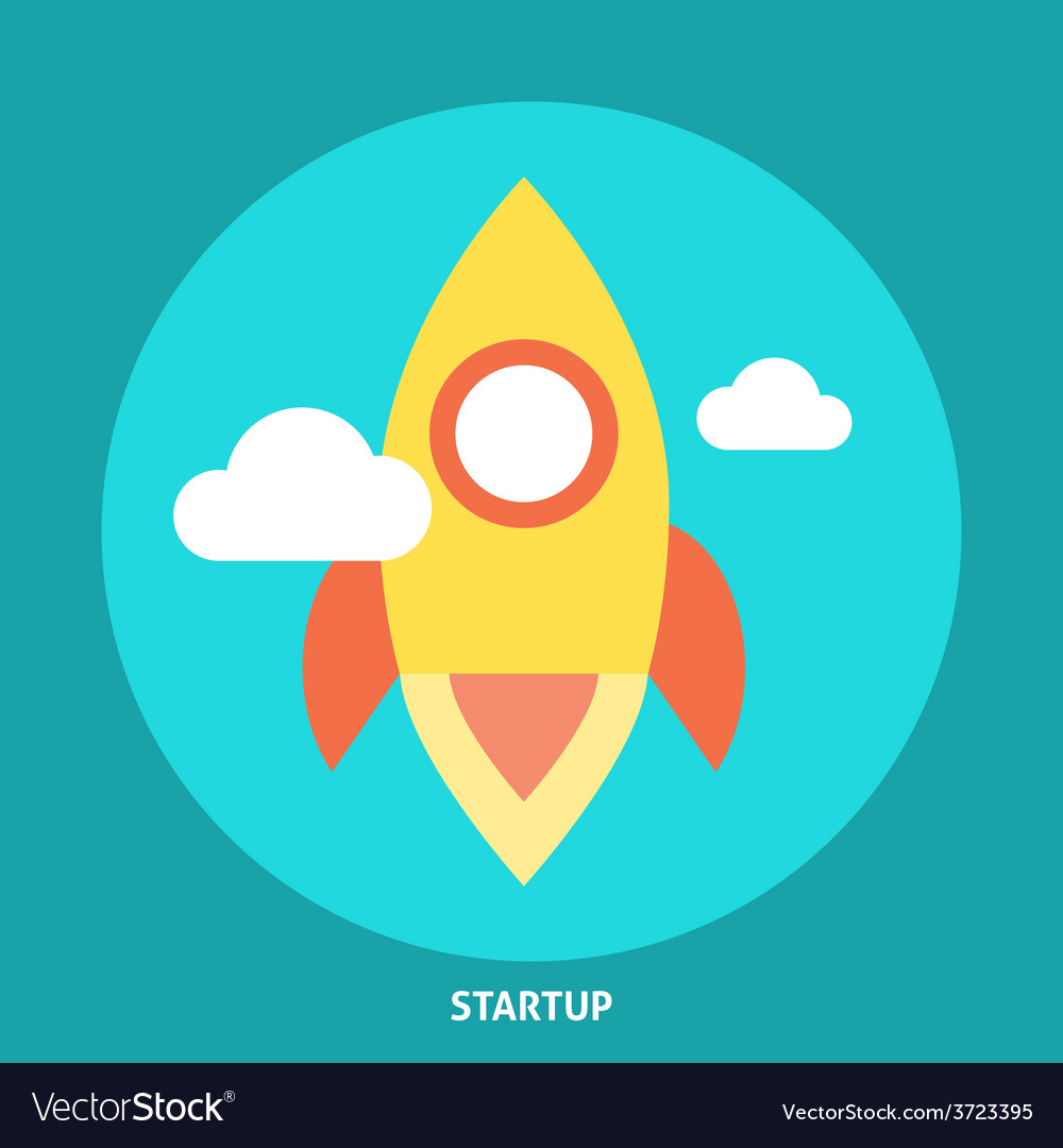 Start up rocket icon vector | Price: 1 Credit (USD $1)