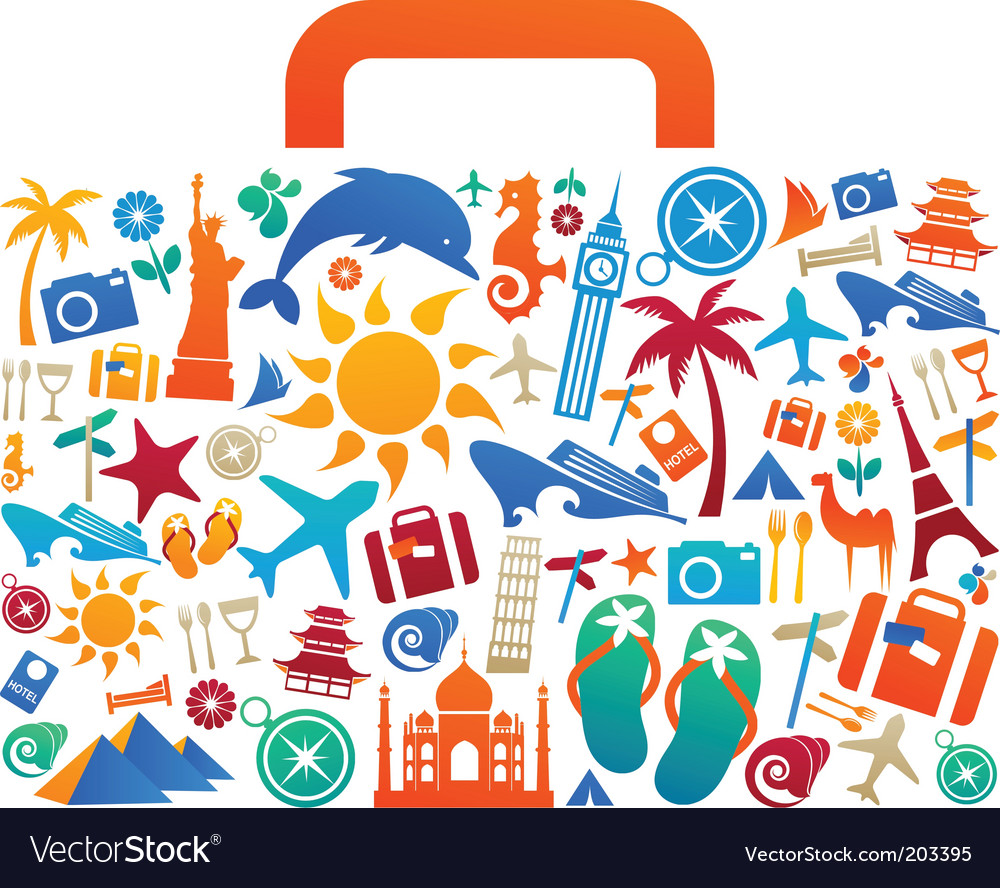 Travel suitcase vector | Price: 1 Credit (USD $1)