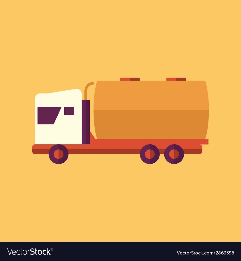 Truck transportation flat icon vector | Price: 1 Credit (USD $1)