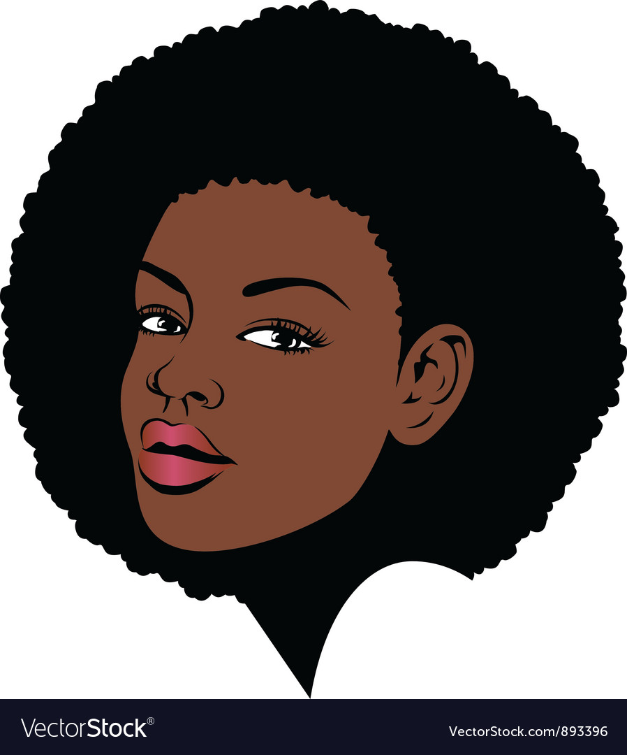 Afro hair pop art vector | Price: 3 Credit (USD $3)