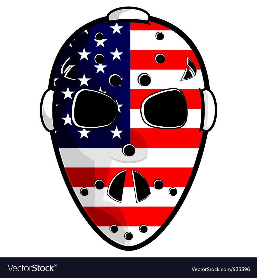American hockey mask vector | Price: 3 Credit (USD $3)