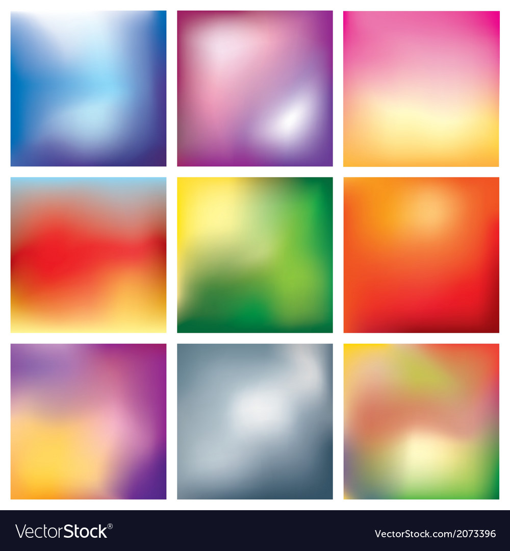 Blur abstract background set vector | Price: 1 Credit (USD $1)
