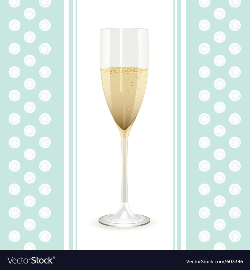 Champagne flute vector | Price: 1 Credit (USD $1)