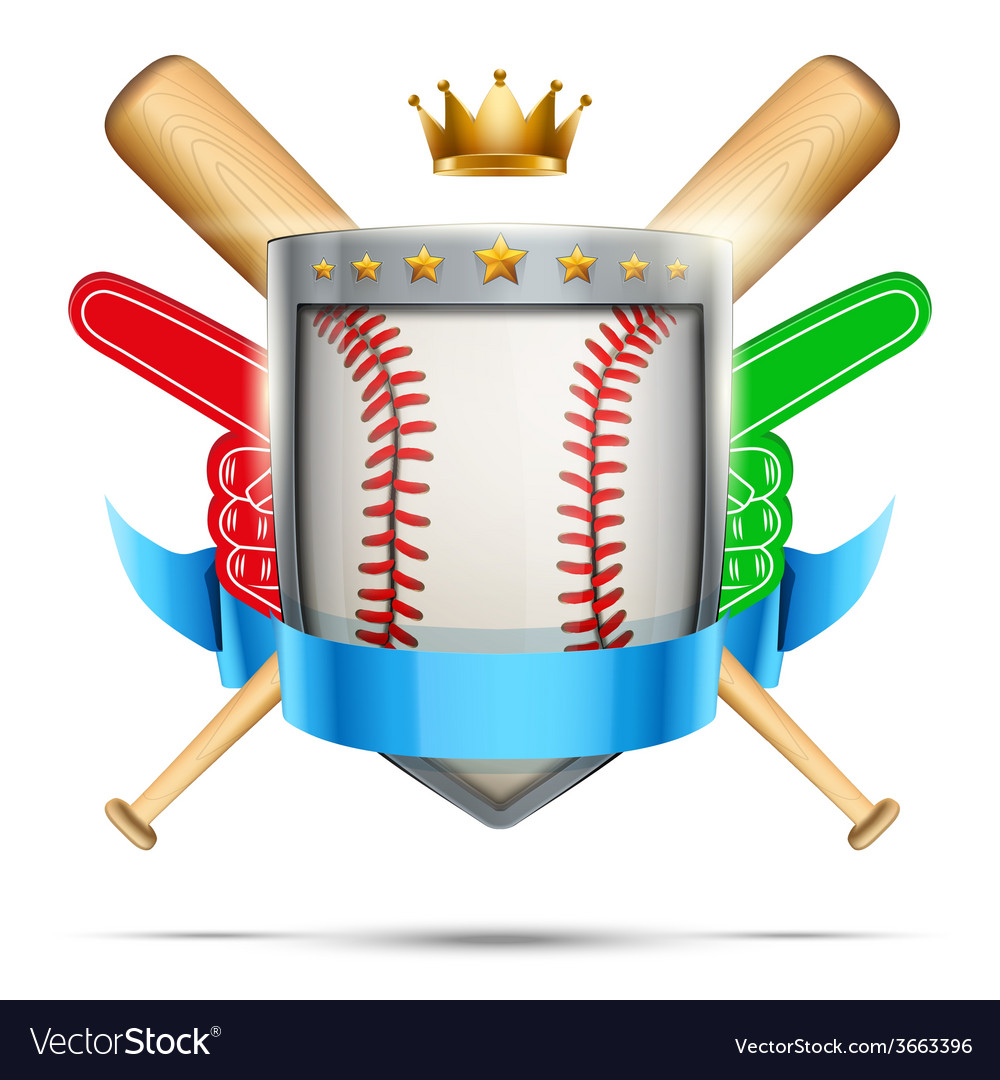 Label for baseball sport club or event bright vector   Price: 1 Credit (USD $1)