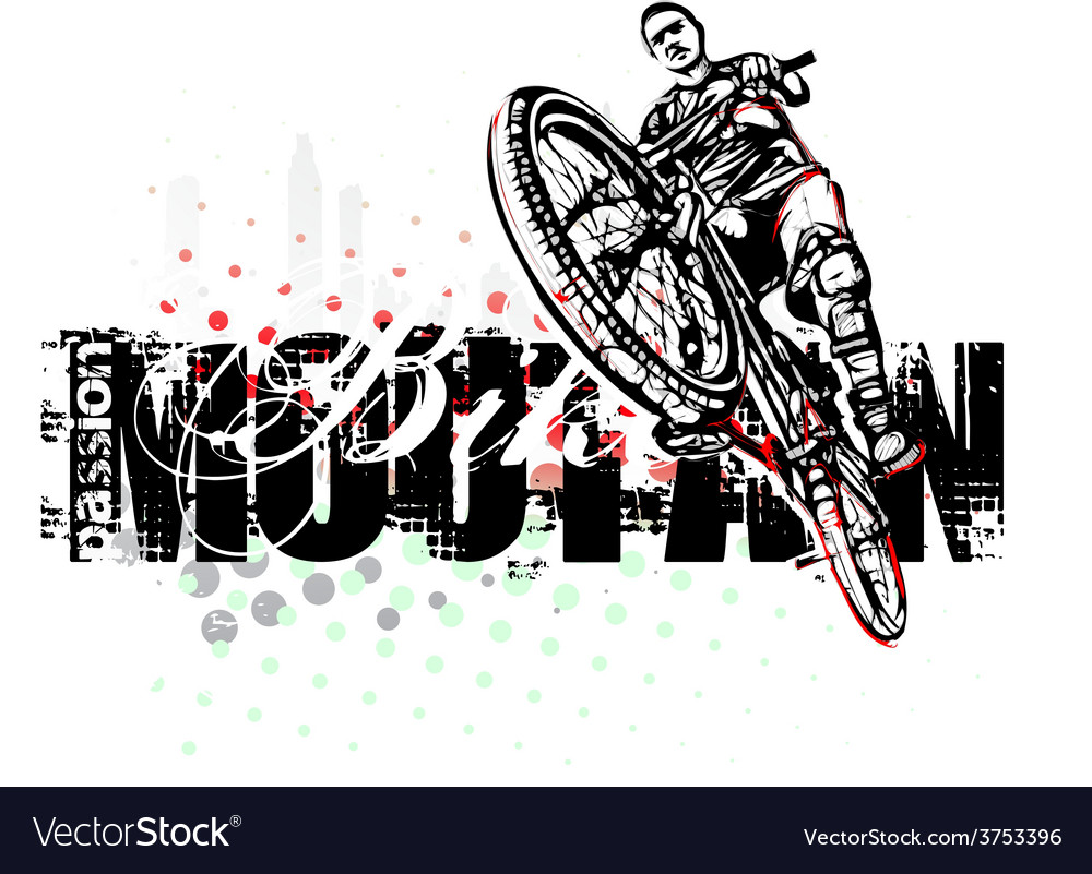 Mountain bike poster background vector | Price: 3 Credit (USD $3)