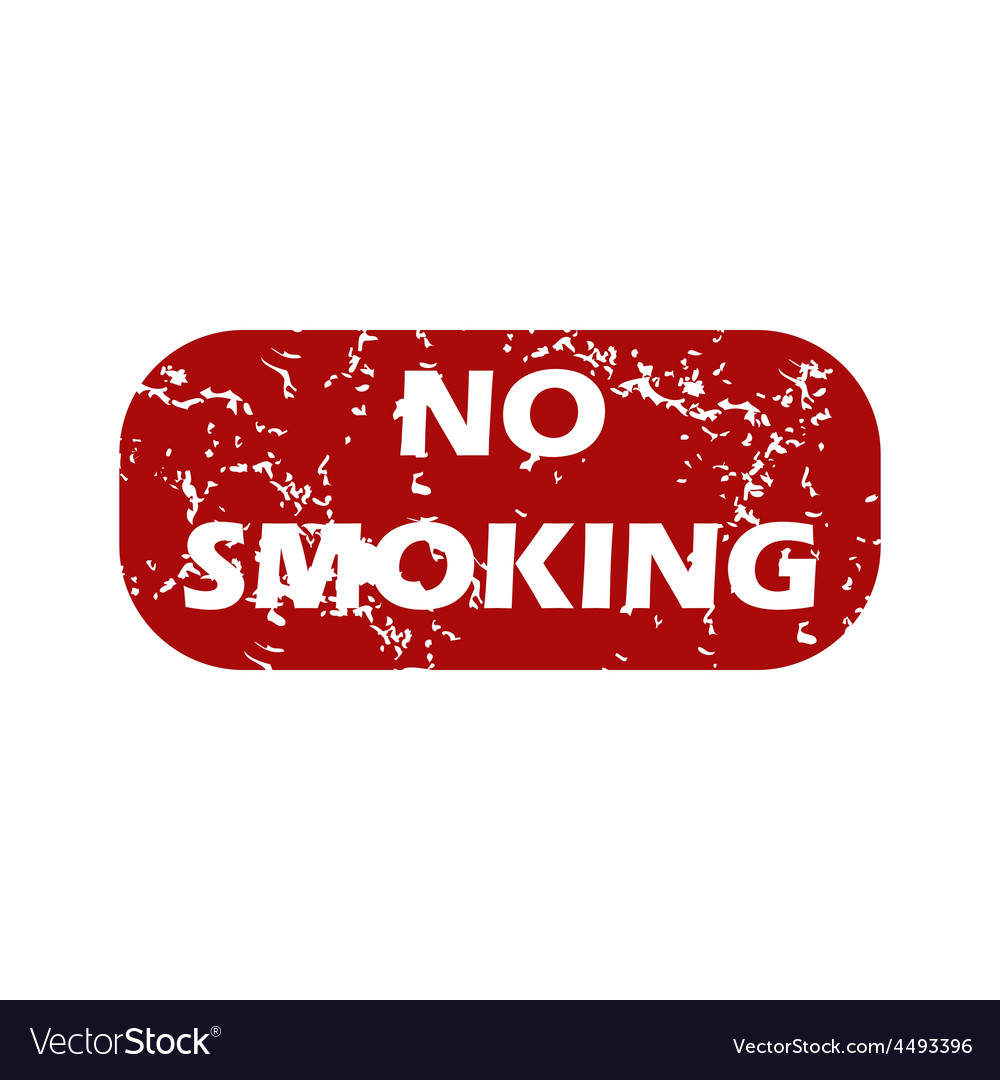 Red grunge no smoking logo vector | Price: 1 Credit (USD $1)
