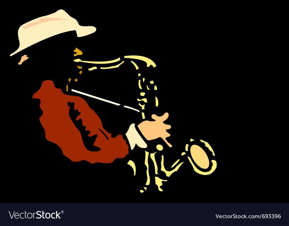 Saxophonist vector | Price: 1 Credit (USD $1)