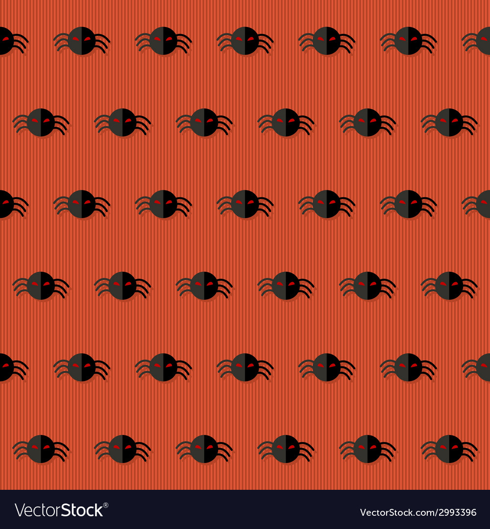 Seamless halloween pattern with spiders over red vector | Price: 1 Credit (USD $1)