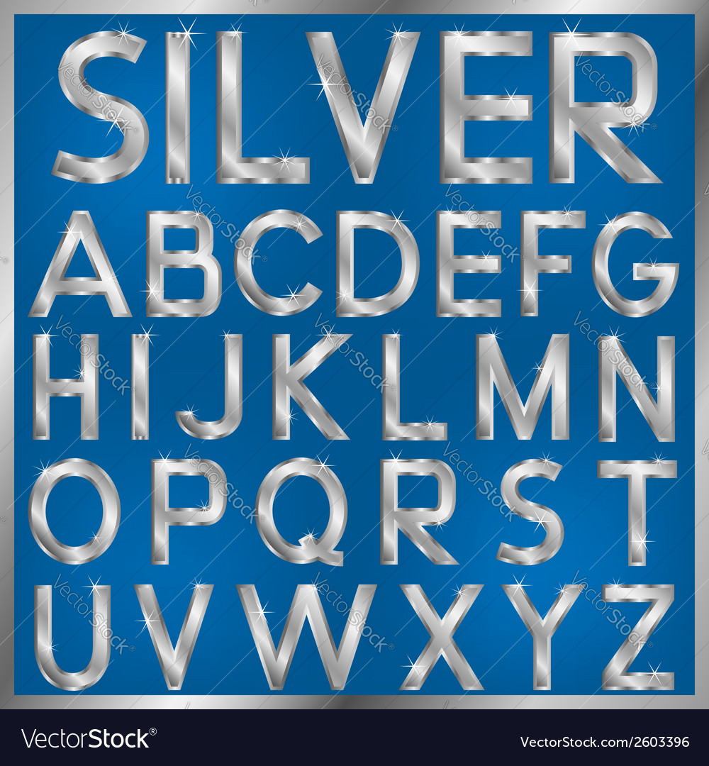 Silver font vector | Price: 1 Credit (USD $1)