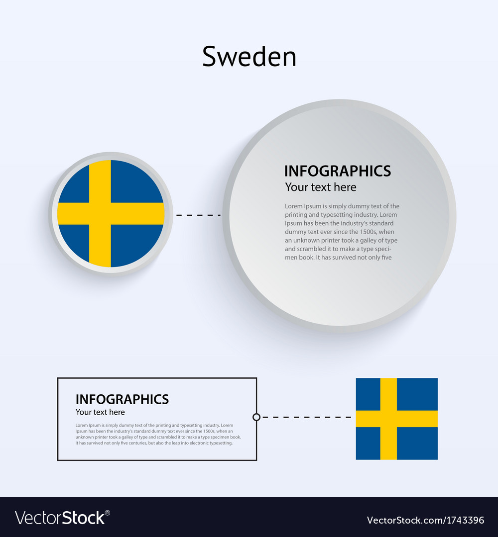 Sweden country set of banners vector | Price: 1 Credit (USD $1)