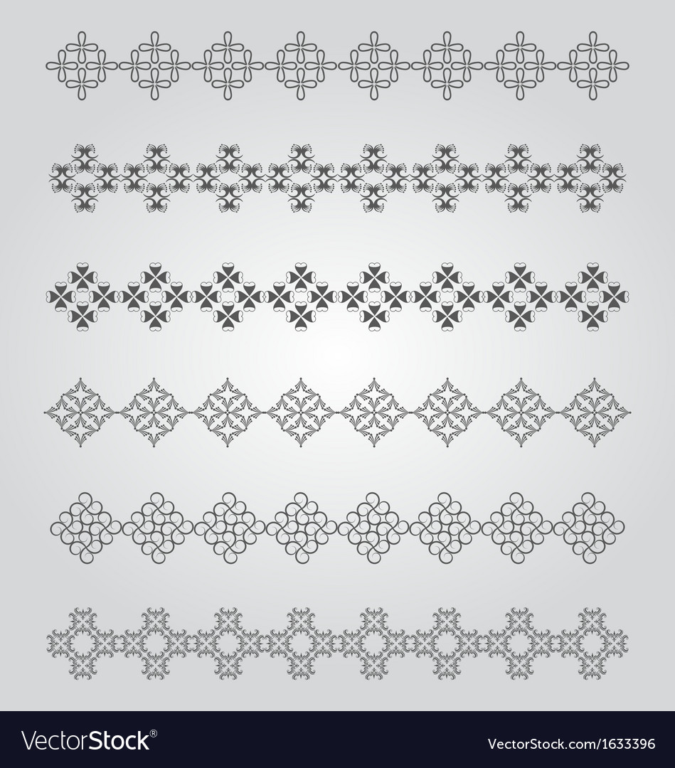 Vintage borders design vector | Price: 1 Credit (USD $1)