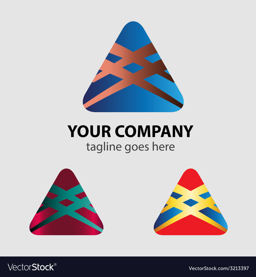 Abstract logo template triangle sign vector | Price: 1 Credit (USD $1)