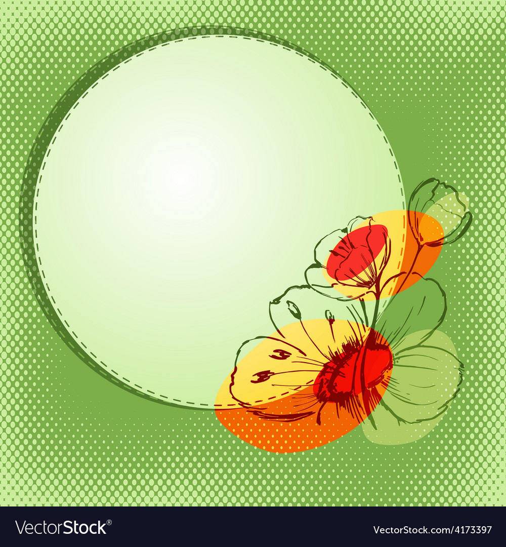 Bright flower vector | Price: 1 Credit (USD $1)