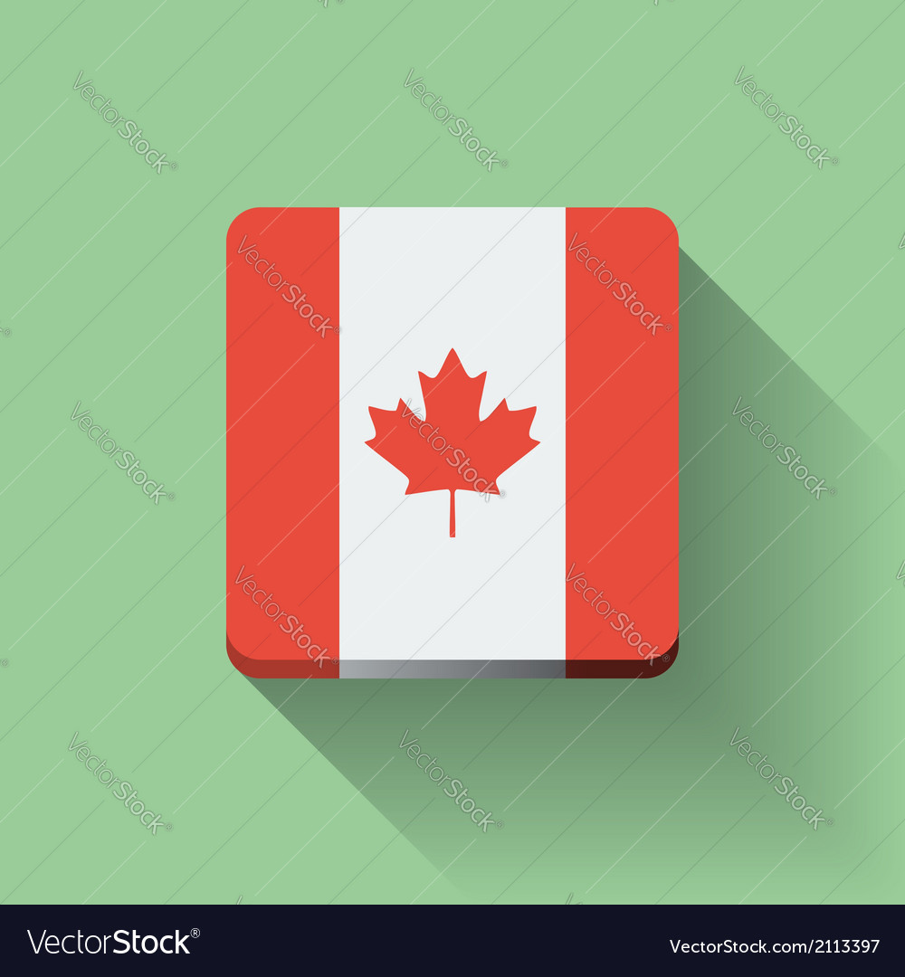 Button with flag of canada vector | Price: 1 Credit (USD $1)